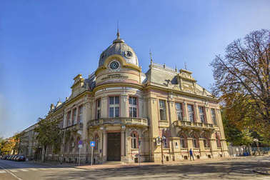 Ruse, Bulgaria - October 21, 2017: Old city library