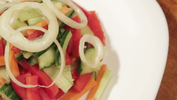 Healthy salad with fresh vegetables.