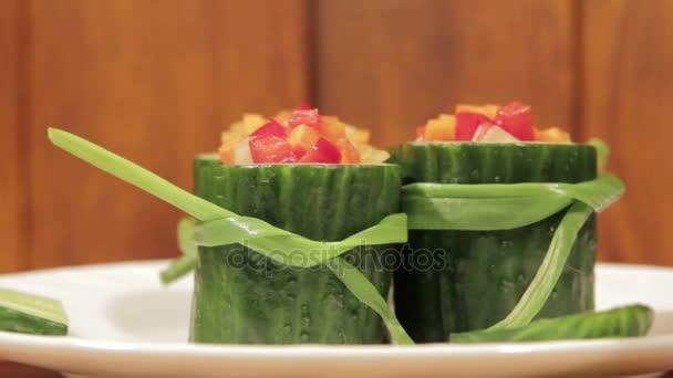 Spuntino sano di verdure fresche.