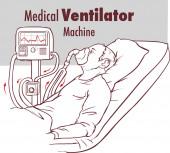 Ventilátor Medical Machine Equipment fo Tracheostomia Beteg Légzés a műtőben Sebészet Kórházi intenzív intenzív intenzív