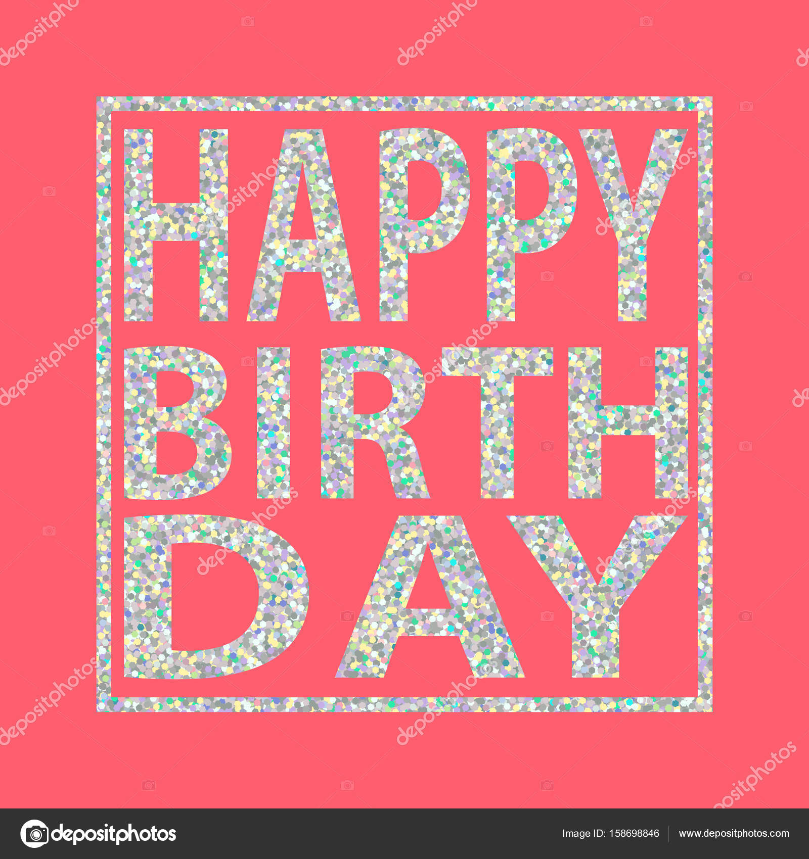 Happy birthday quote silver glitter girl pink background stock happy birthday quote silver glitter girl pink background stock vector 158698846 stopboris Images