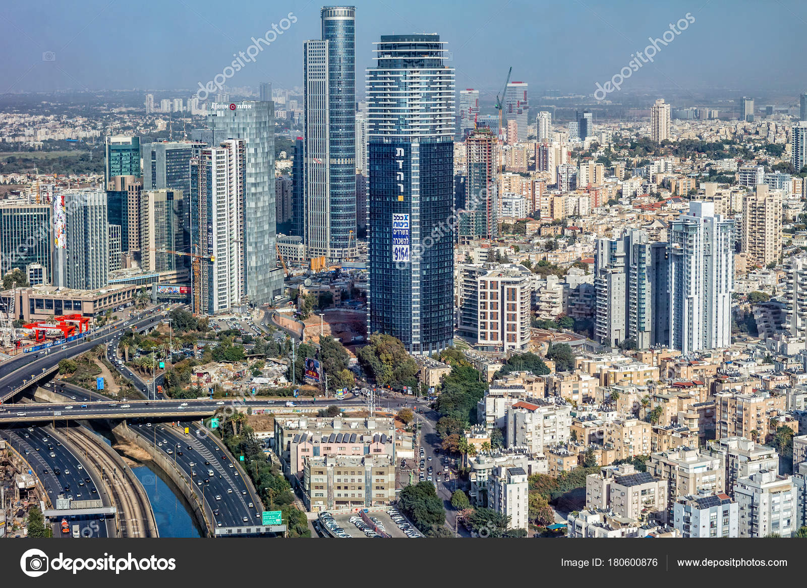 Aerial View Of The City Of Tel Aviv Israel Stock