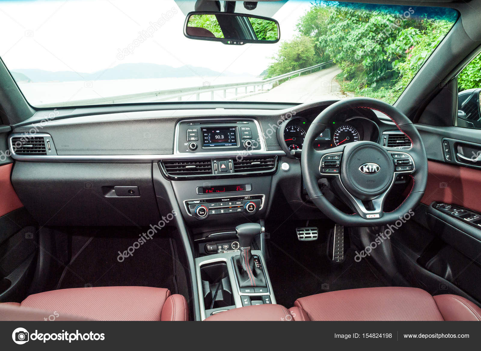 Hong Kong, China April 12, 2017 : KIA OPTIMA 2017 Interior On April 12 2017  In Hong Kong. U2014 Photo By Teddyleung