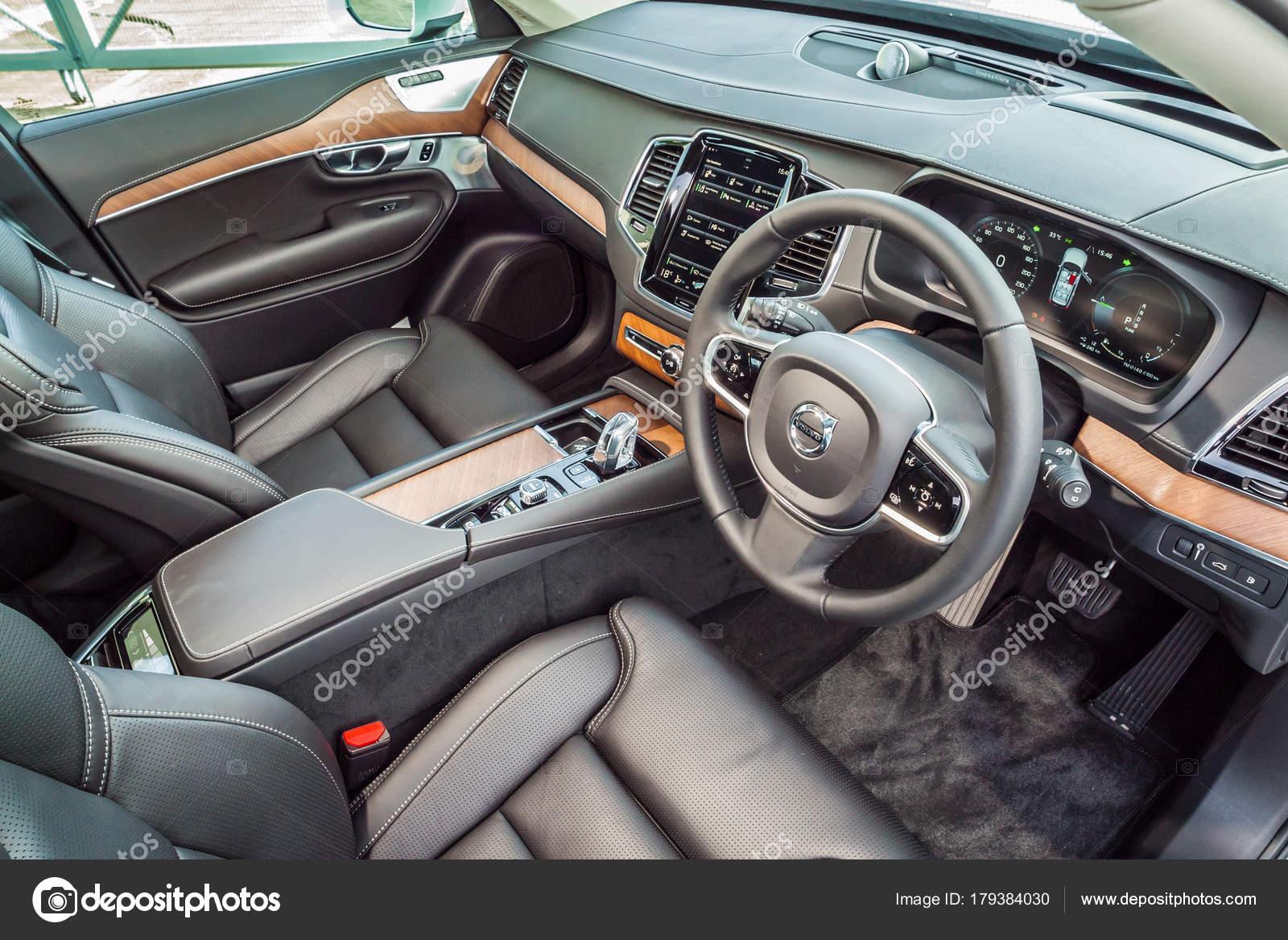 Volvo XC90 Twin Turbo 2017 Interior – Stock Editorial Photo ...