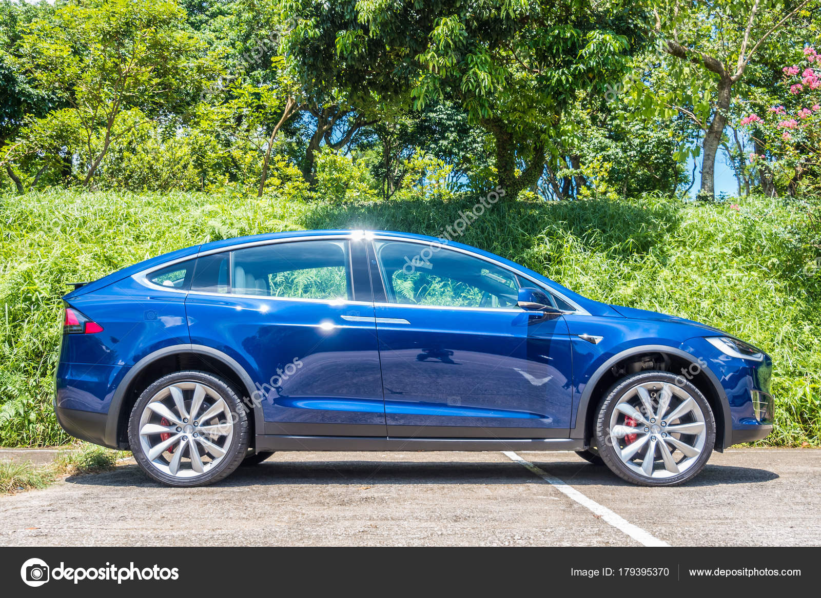 Tesla Model X 2017 Probefahrt Tag Redaktionelles Stockfoto