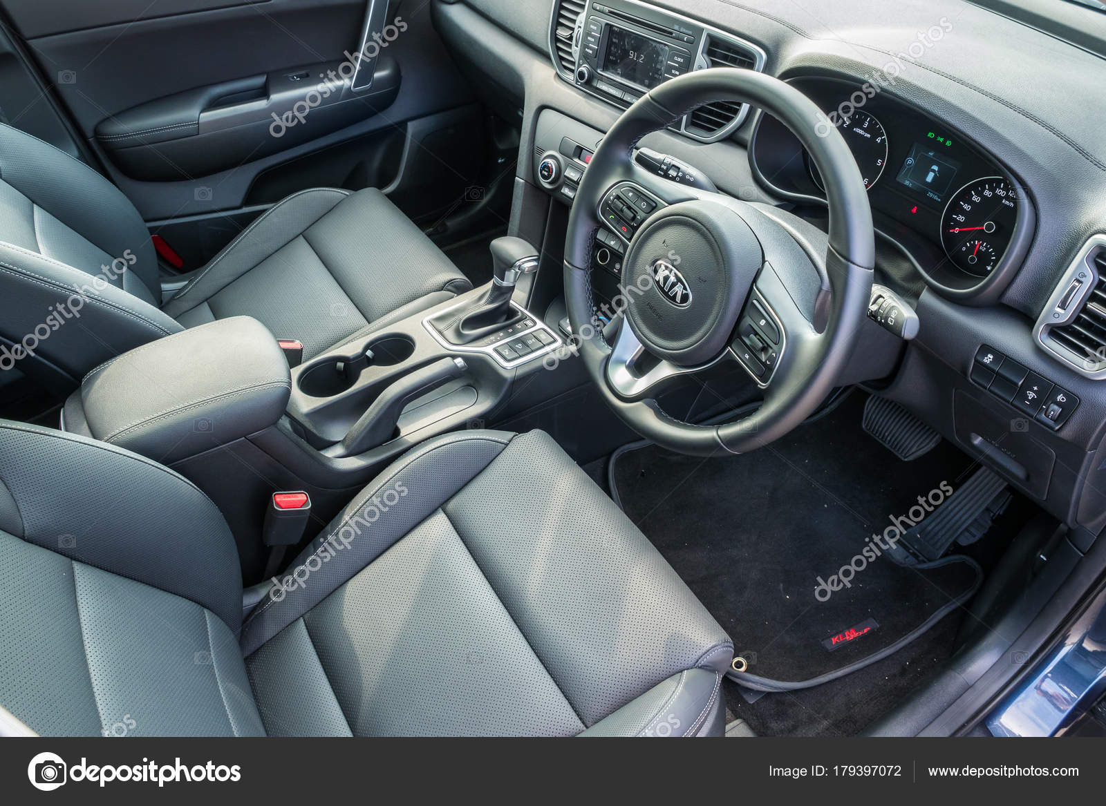 kia sportage 2017 interior stock editorial photo. Black Bedroom Furniture Sets. Home Design Ideas