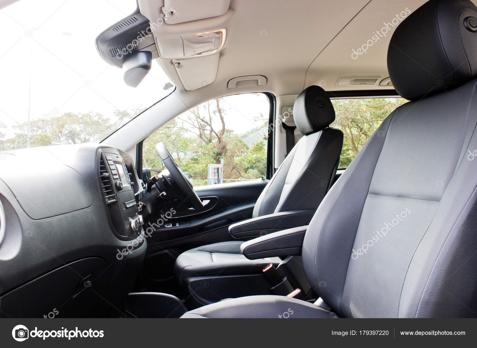 mercedes benz vito 2017 interior stock photo