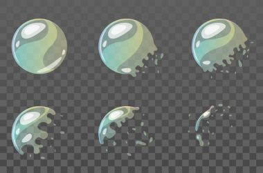 bubble burst sprites for animation