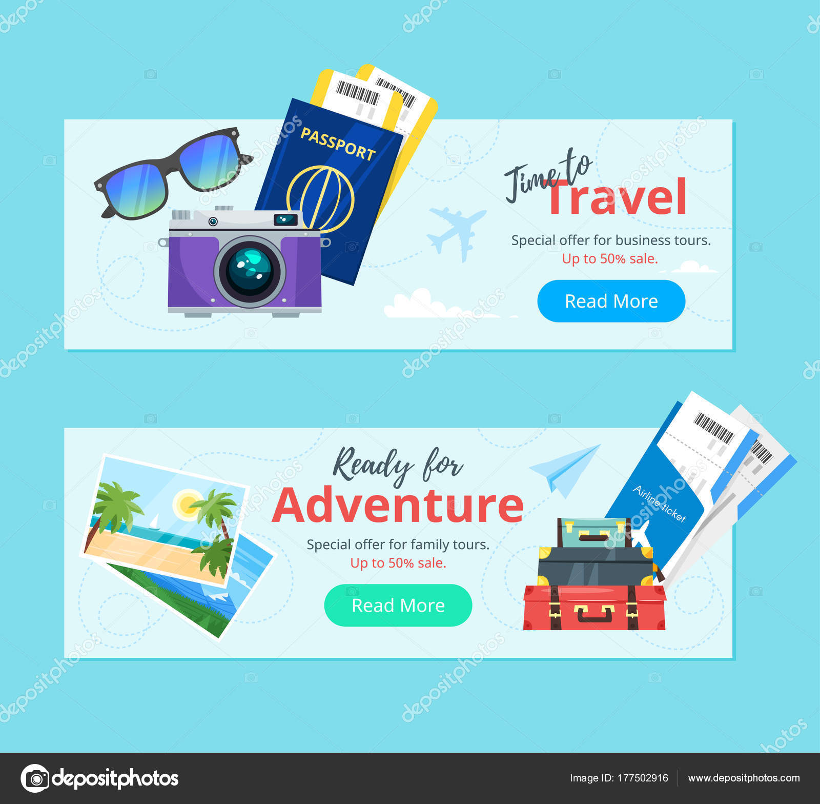 Travel And Tourism Advertisement Banner Stock Vector