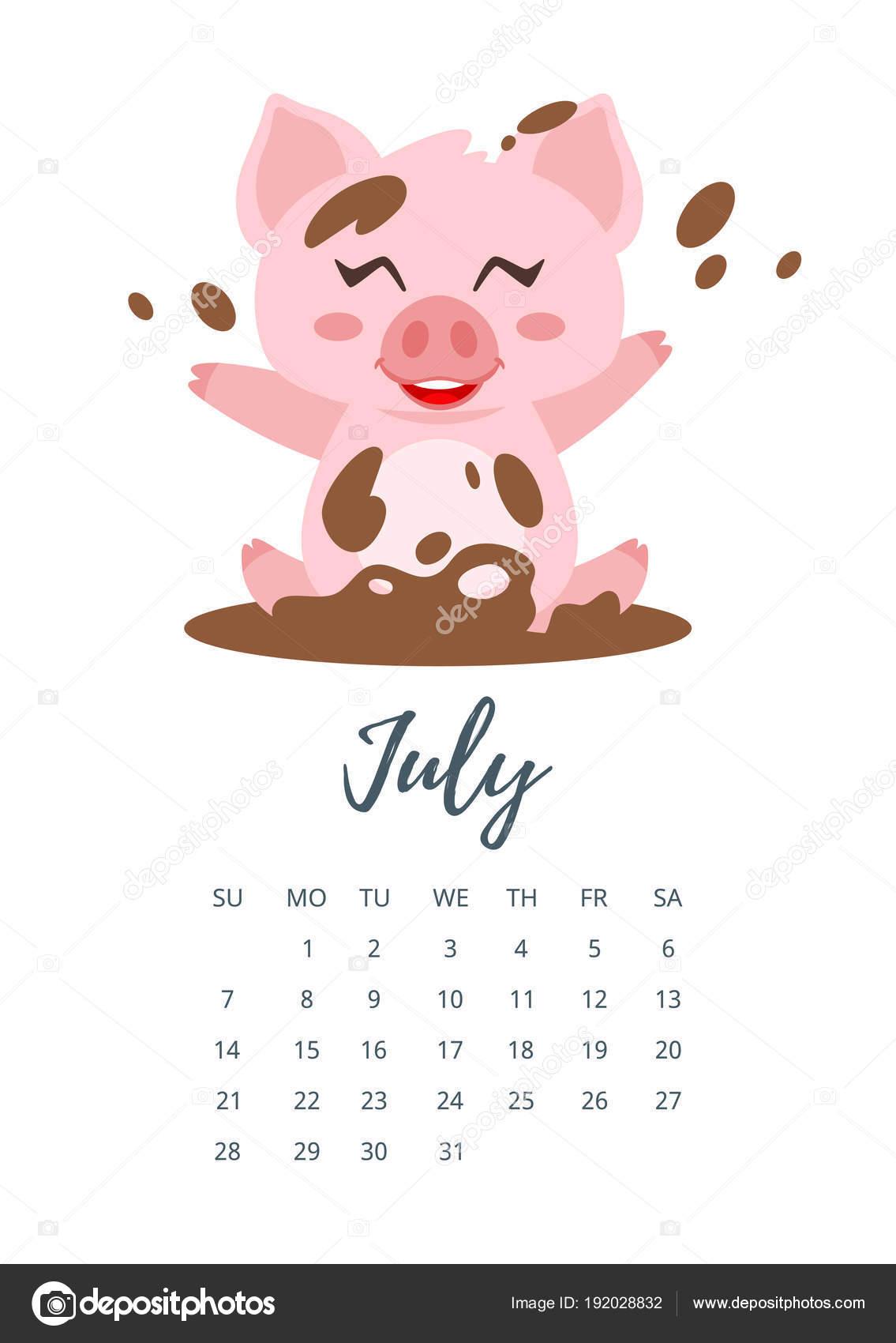 2019 július havi naptár Július 2019 évi naptár lapja — Stock Vektor © tkronalter9.gmail  2019 július havi naptár