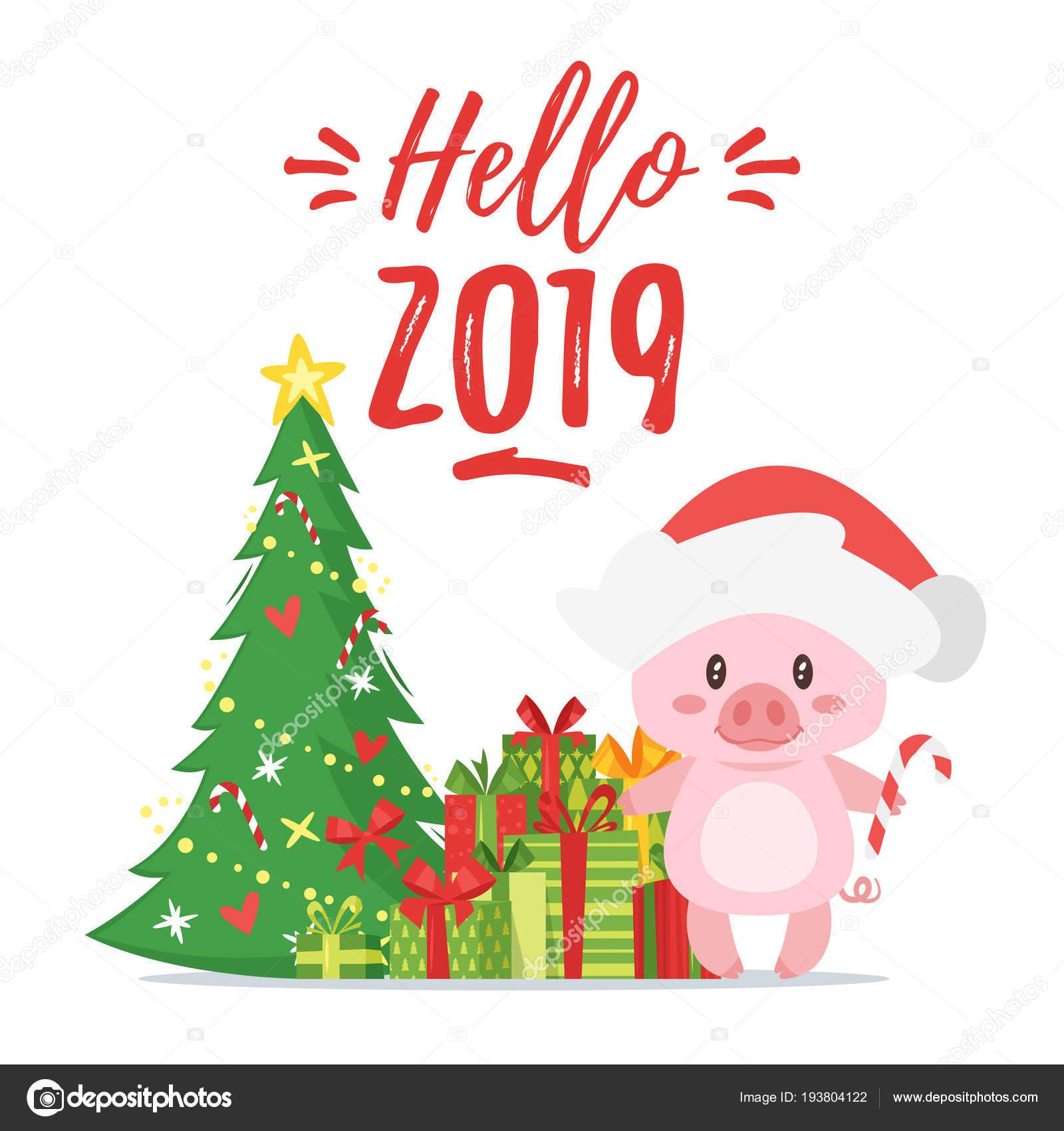 2019 Nuovo Sì Cartolina D Auguri Di Natale Vettoriali