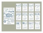 Photo hand drawn calendar for garage