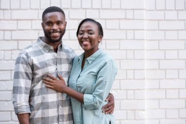 Smiling young African couple