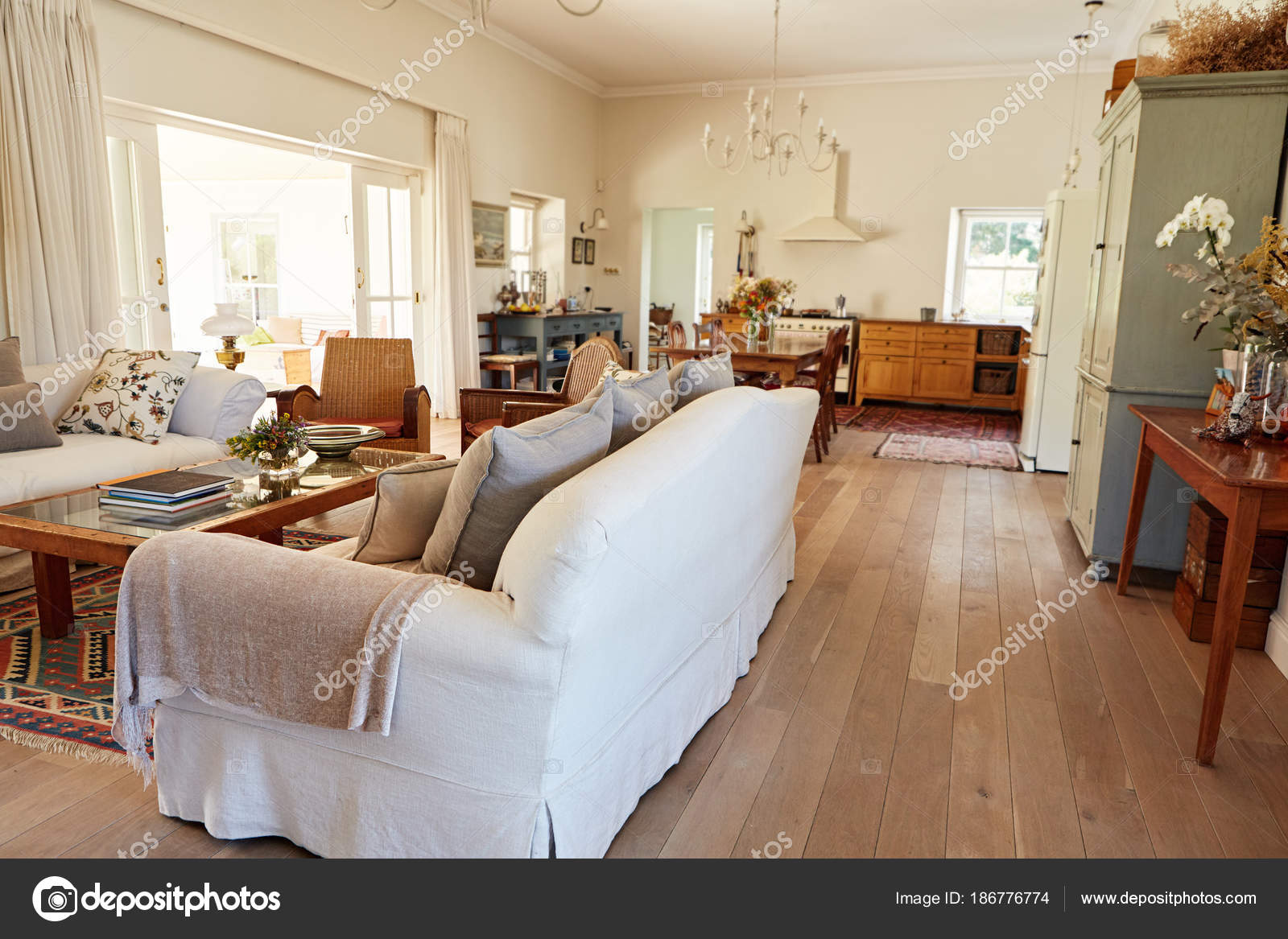Interior Living Room Sofa Country Style Residential Home