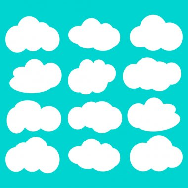 clouds icon illustration