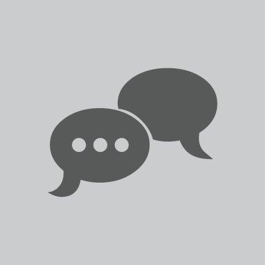 flat conversation  icon
