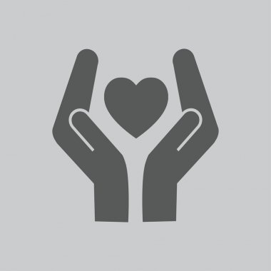 Heart and hands icon