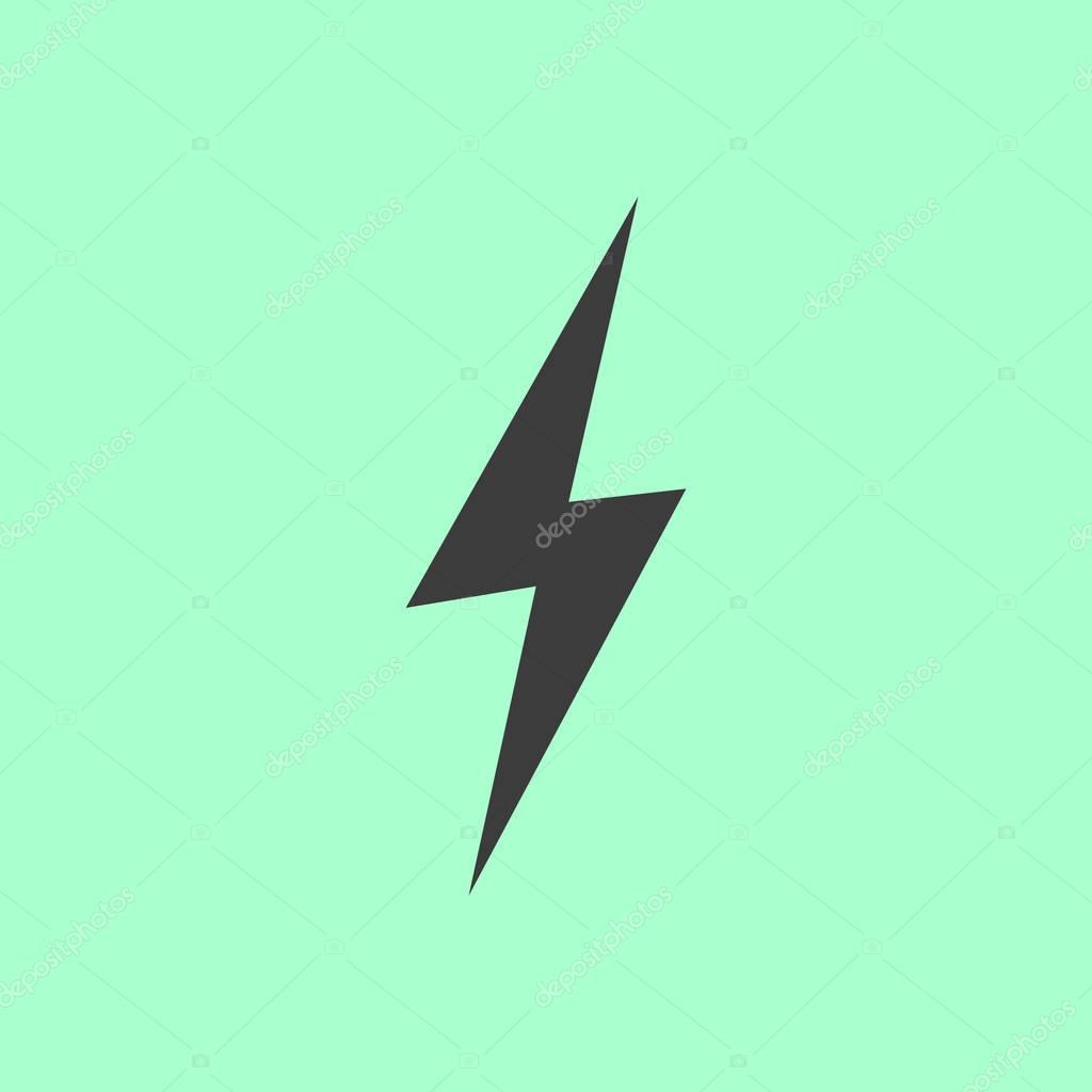 lightning icon  sign