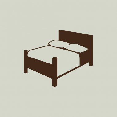 Bed simple icon