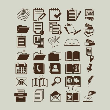Documents icons sign