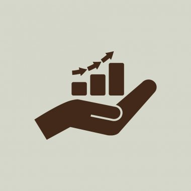 hand and profit  icon