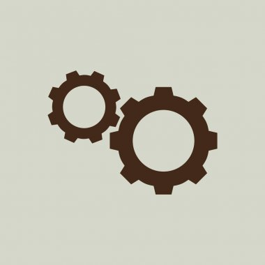 gears icon sign
