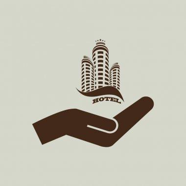 simple hotel icon