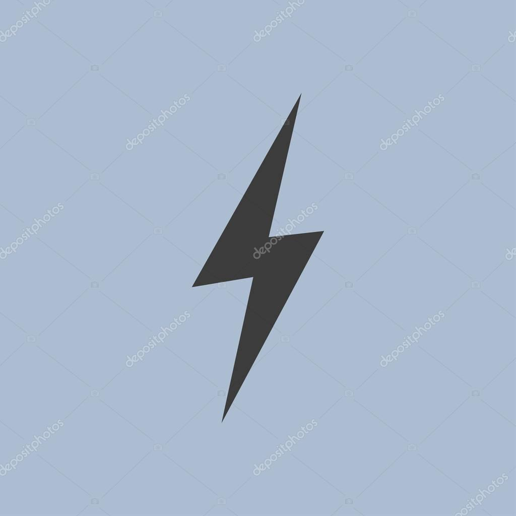 lightning icon illustration
