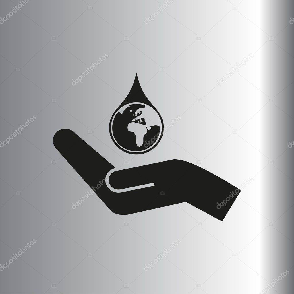 hand hold water drop