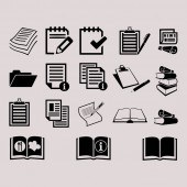 Document icons   illustration