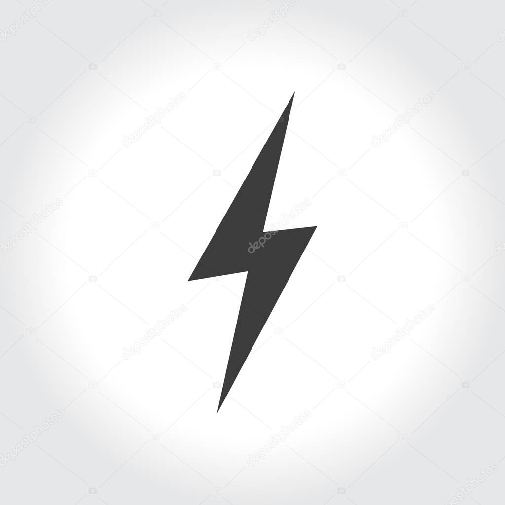 lightning sign icon
