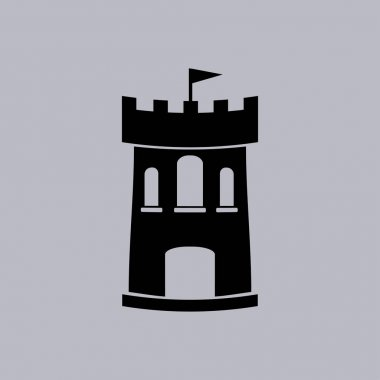 Castle  icon vector illustration stock vector