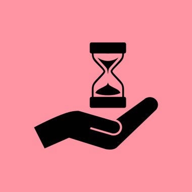 hourglass in hand simple icon