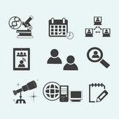 Ikony pro on-line vzdělávání