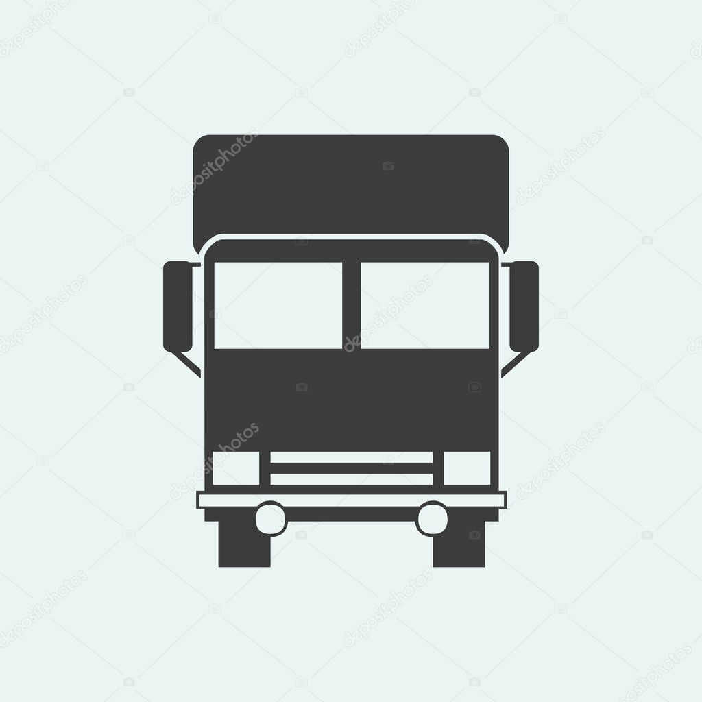 icon of a truck  illustration