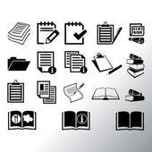 sada ikon dokumentů