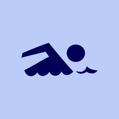 Swimming flat icon