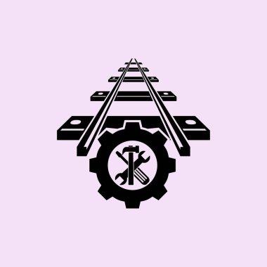 repair of railway web icon