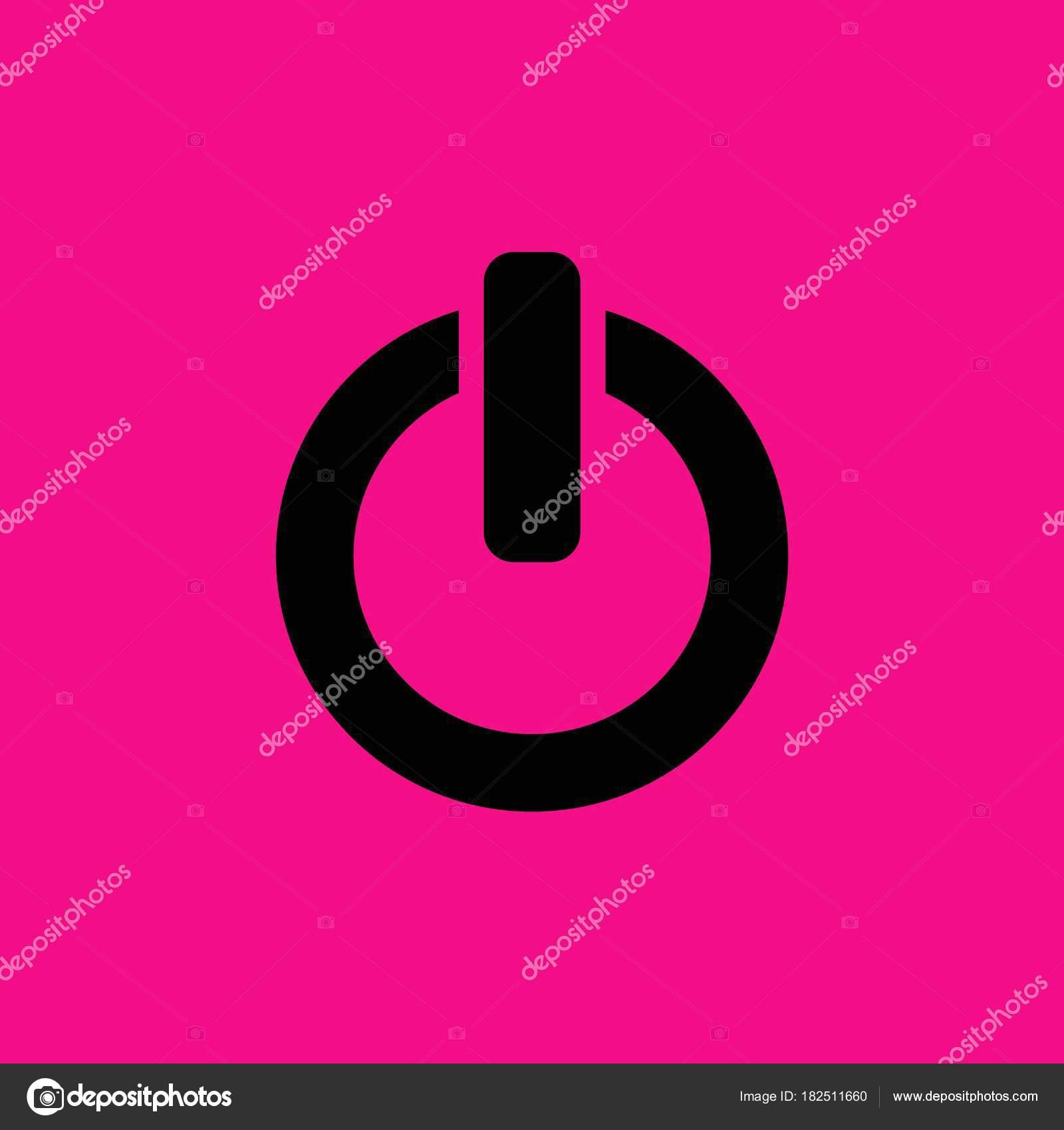 Schalter Symbol Vektor Macht Zeichen Illustration — Stockvektor ...