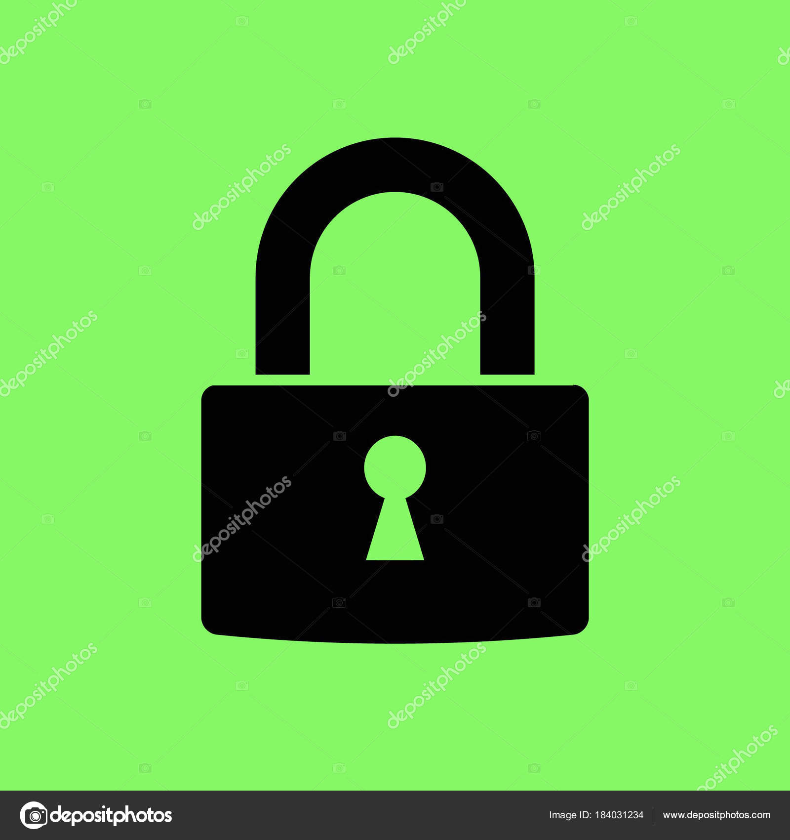 lock vector icon green background stock vector risovalka2015 rh depositphotos com padlock vector art heart padlock vector