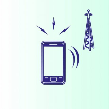 Cell phone power vector icon