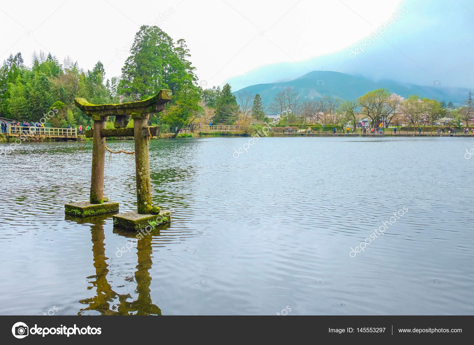 The spring scenery of Yufuin in Japan — Stock Photo © l2abbitz ...