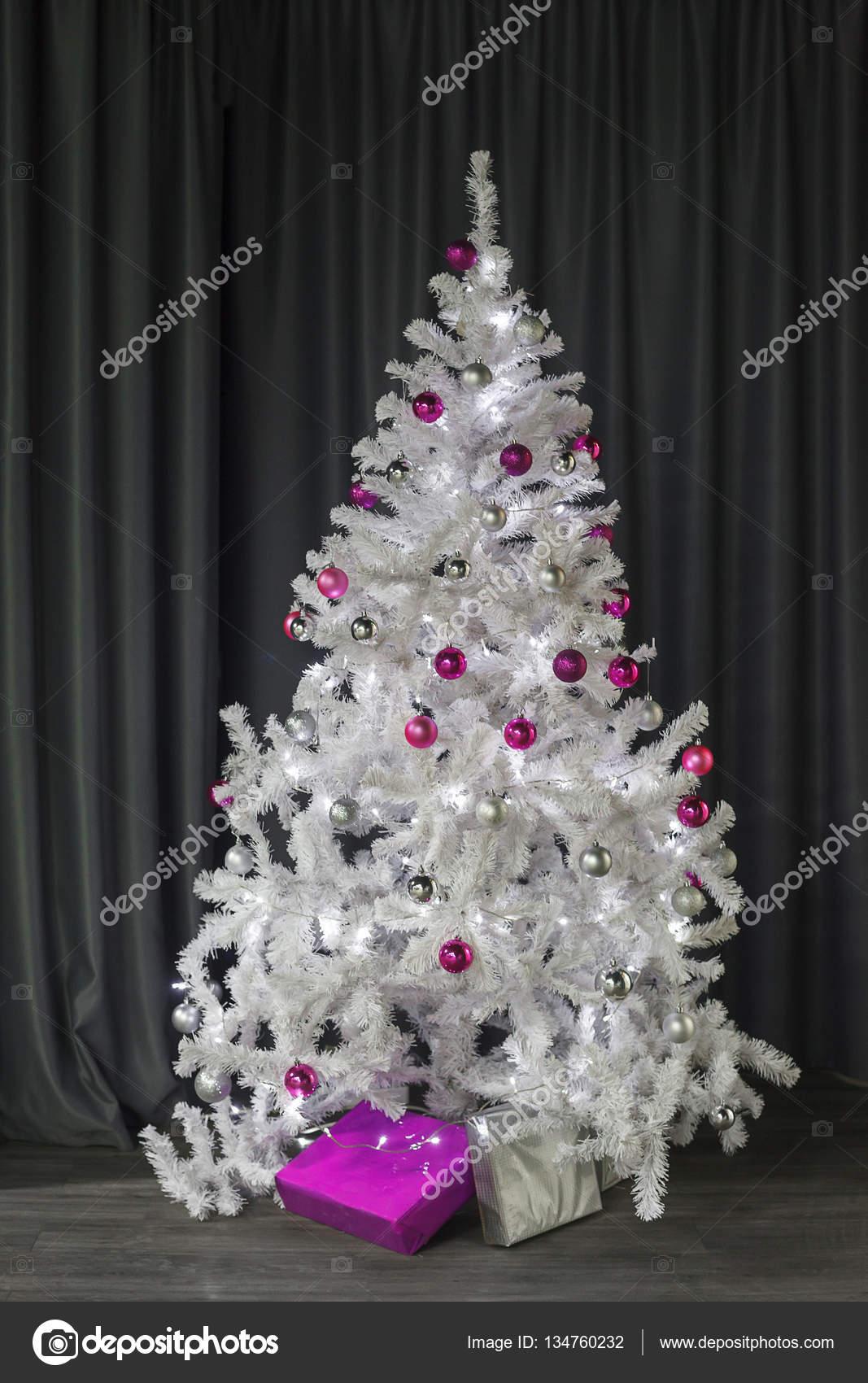 Albero Di Natale Rosa.Palle Di Natale Bianco E Rosa Appendere Sull Albero Di Natale Bianco