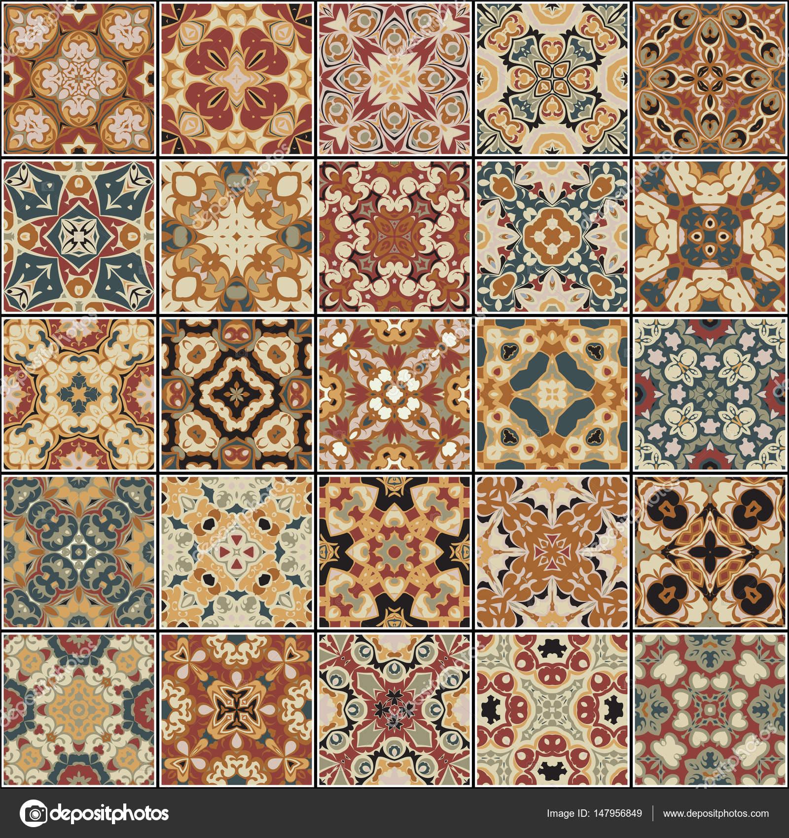 Colecci n de diferentes azulejos vintage vector de stock i0645495 147956849 - Azulejos vintage ...