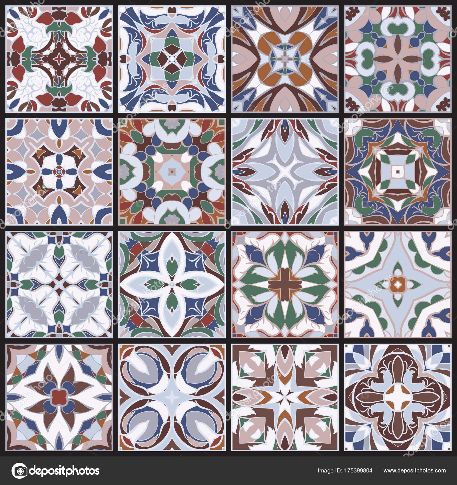 Eine Sammlung Von Keramik Fliesen U2014 Stockvektor