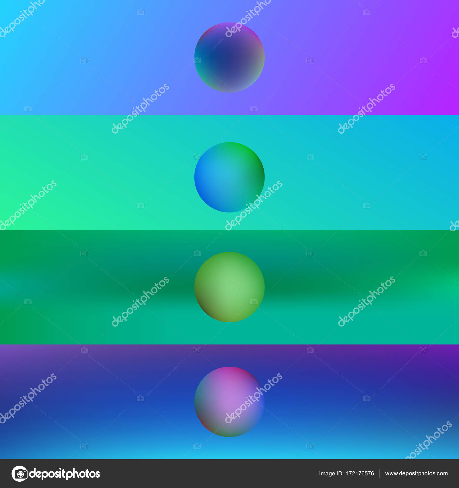 Set colorful blurred backgrounds — Stock Vector
