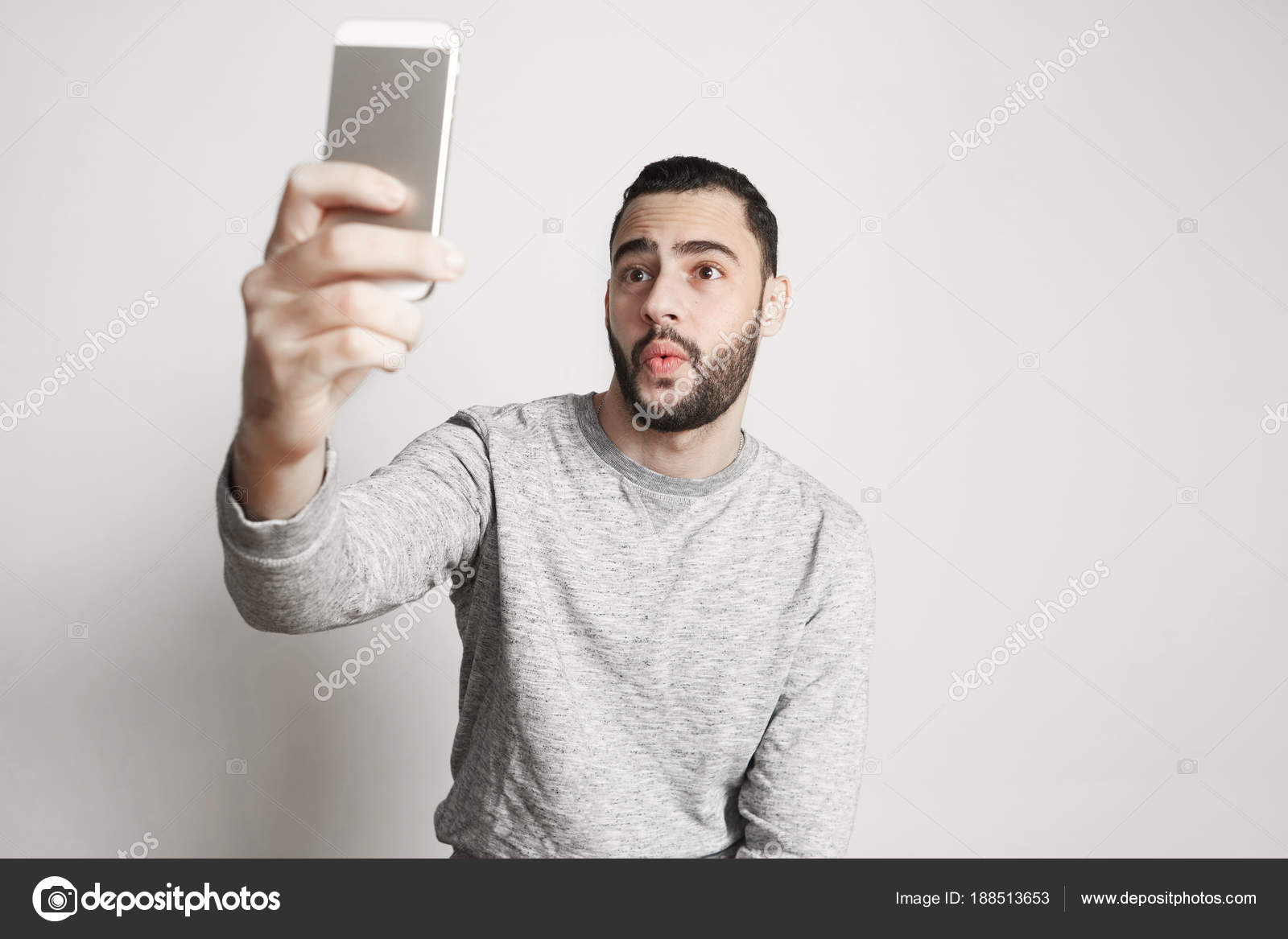 selfie handsome guy