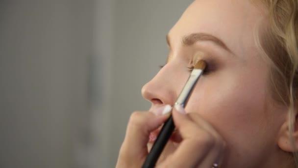 make-up, oční stíny. uzavřít shot