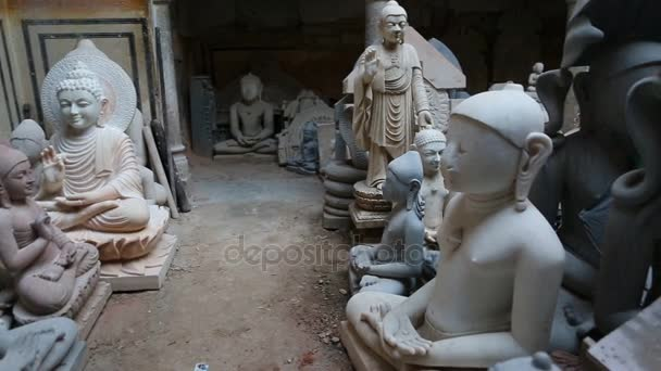 JAIPUR, Rajasthan, India  DEC, 2016: Statues murti Production Process on old Marble Factory on Dec, 2016 in JAIPUR