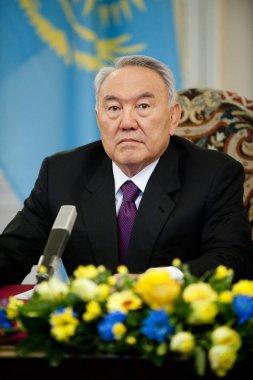 Kazakh president Nursultan Nazarbajev